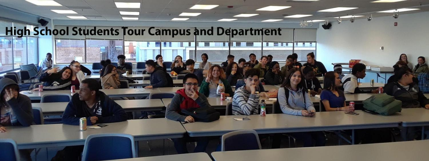 High School Students tour campus and department of chemistry