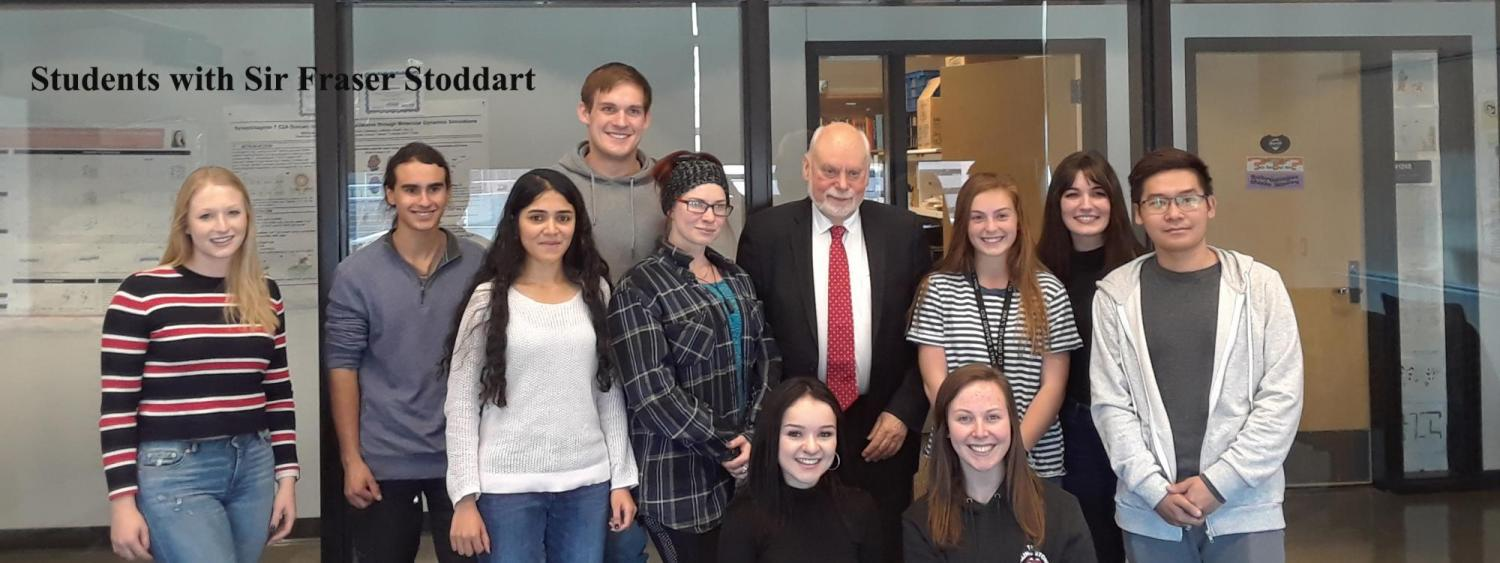Students with Sir Fraser Stoddart
