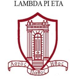 Lambda Pi Eta seal image