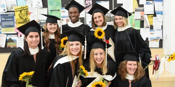 Photo of May 2017 MA students graduating