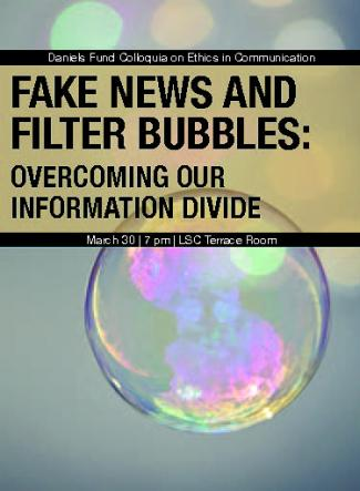 Fake News program cover - bubbles