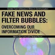 Fake News program cover image - bubbles