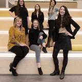 photo of graduating female math students