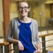 Closeup of Chloe East, Assistant Professor of Economics.