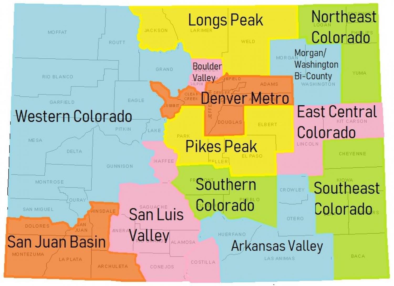 new map of colorado regions