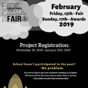 science fair registration flyer