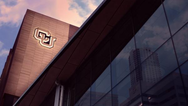 university of colorado denver building with CU logo