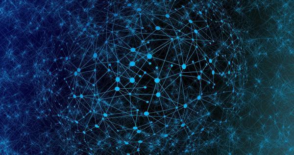 web of lights like a network