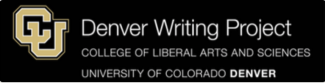Denver Writing Project CU Denver Gold and Black Logo