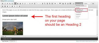 How to format headings