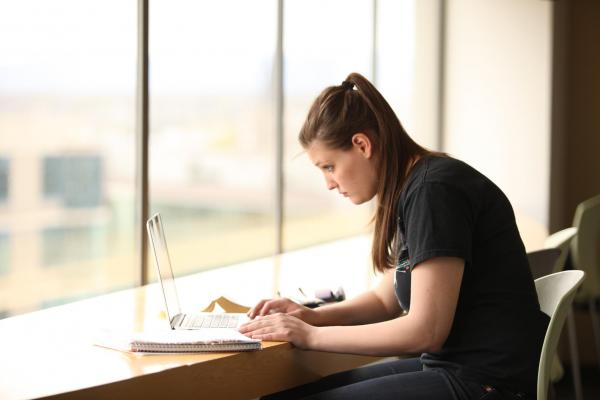 Photo of student studying