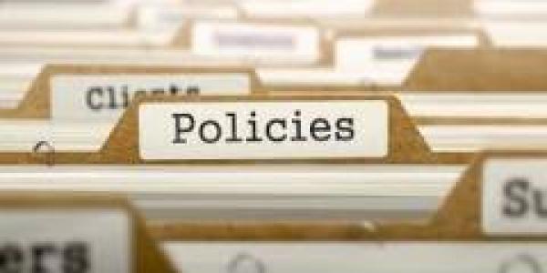 File folder labeled policies