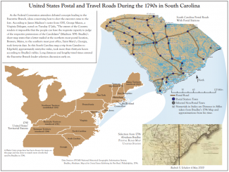 Map of south carolina derived from the outline of the northeastern united states
