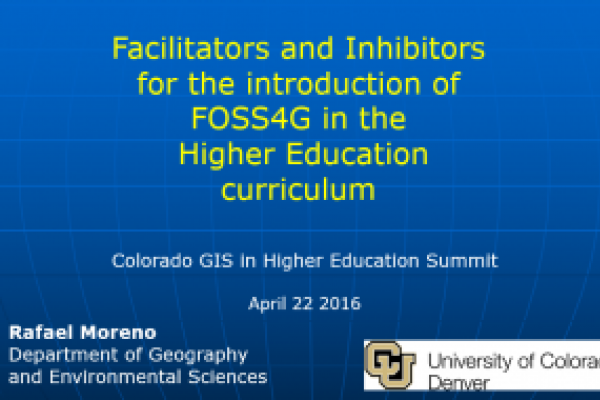 Facilitators and Inhibitors for the introduction of FOSS4G in Higher Education curriculum