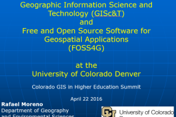 Geographic Information Science and Technology (GISc&T) and Free and Open Source Software for Geospatial Applications (FOSS4G)
