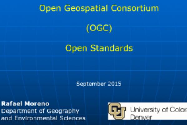 Open Geospatial Consortium (OGC): Open Standards