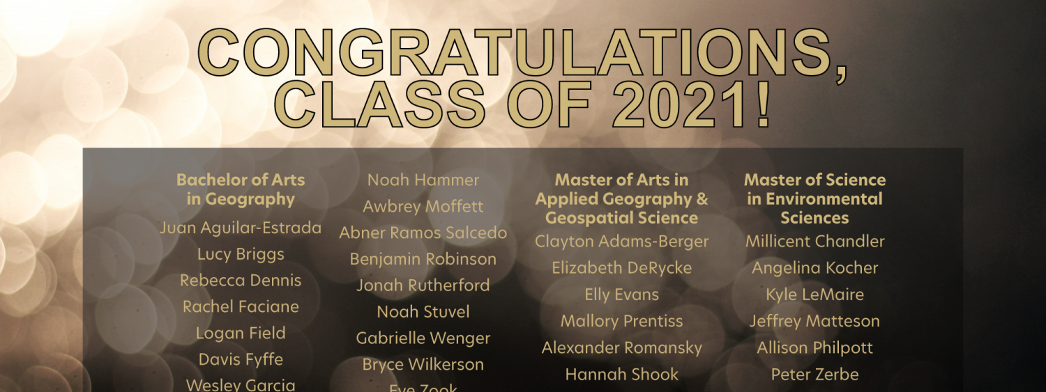 Congratulations message to the class of 2021
