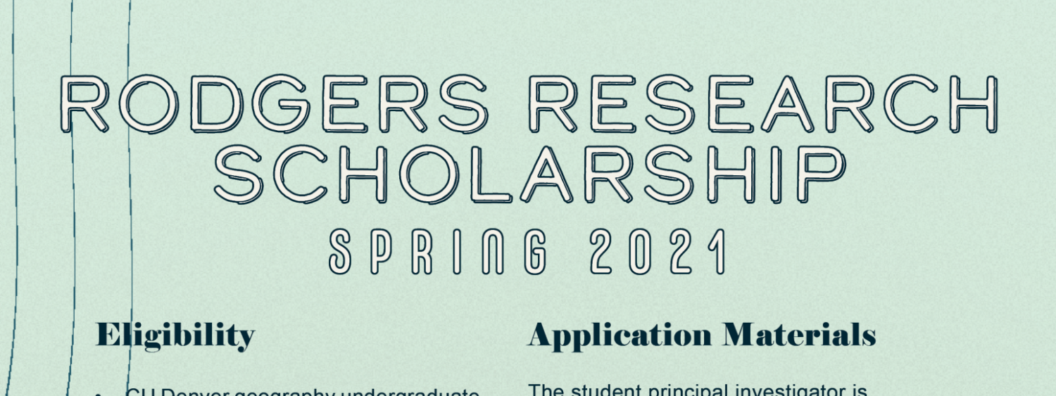 Rodgers Scholarship Flyer