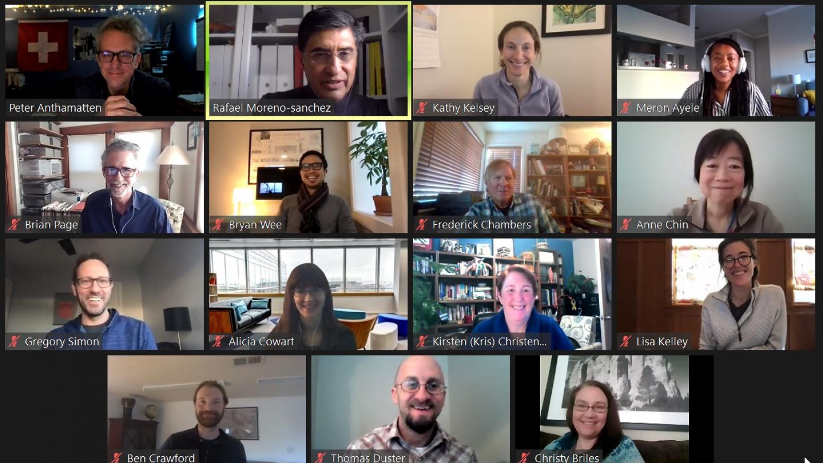 GES Faculty Meeting Screenshot