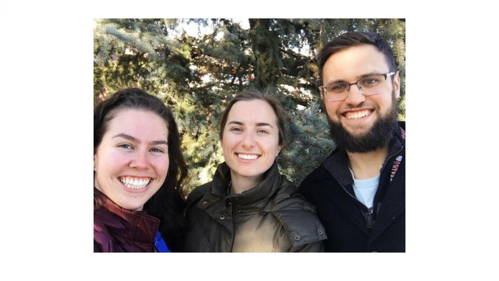 Morgan Cameron, Caroline Hildebrand, and David Smith