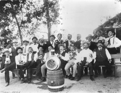 Picture of Brewers outside the Tivoli Brewing Company
