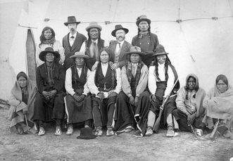 Group of arapahoe men posing