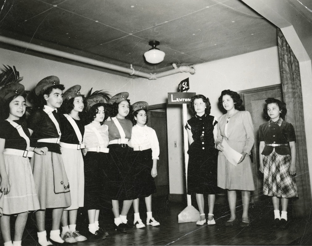 Photo girls taking part in church play