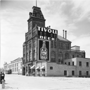 The exterior of the Tivoli Brewing Company circa 1938 or 1939. Image courtesy of the Denver Public Library Picture Image courtesy of the Denver Public Library