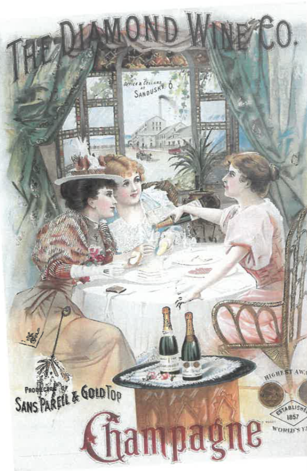 Advertisement for champagne from the early 1900s