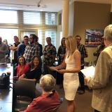 Student Shelby Carr receiving her Historic Preservation Certificate