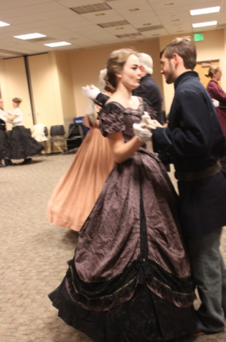 couple dancing at the ball