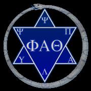 Phi Alpha Theta symbol and greek letters.