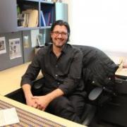 Dr. Ryan Crewe at his desk