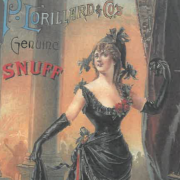 Photo of an advertisement for snuff from the 1900s
