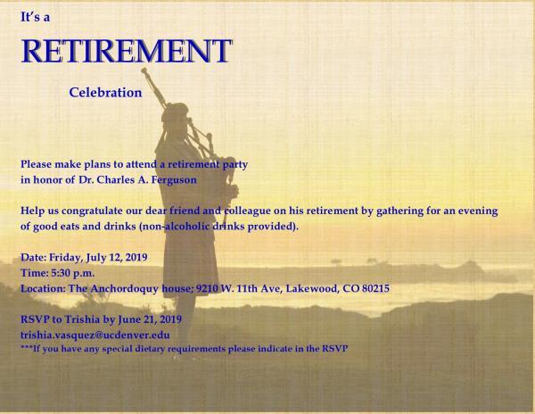 Charles Ferguson Retirement Information
