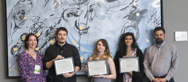 SACNAS Award winners with Dr. Hamilton and Dr. Allen
