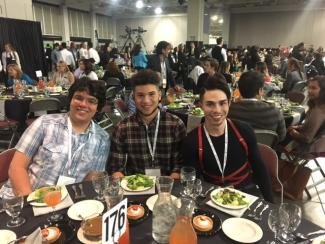 UC Denver MARC students at SACNAS 2017 Dinner