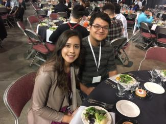 Jenn and Danny at SACNAS 2017 Dinner