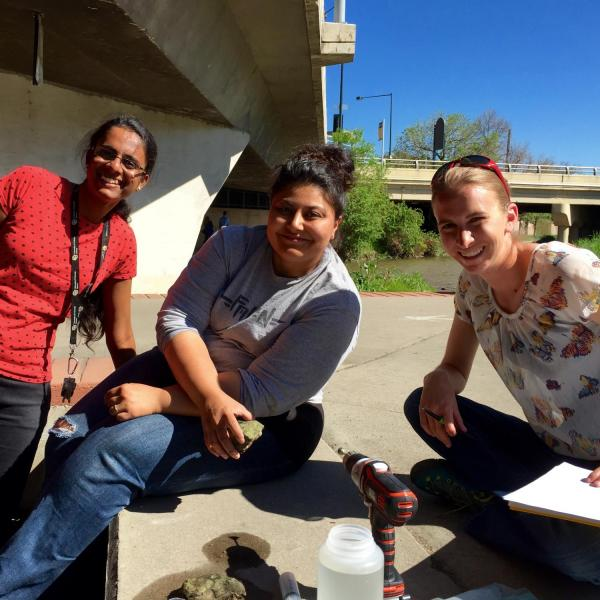 Group of research team members