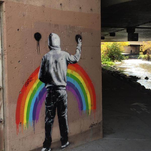Urban art by the field sampling site