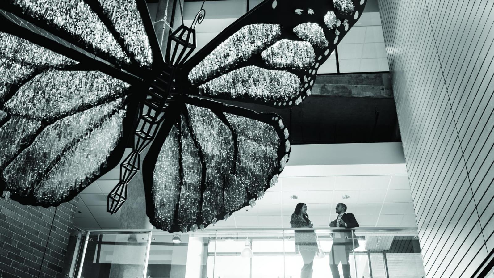 CU Denver Science Building butterfly