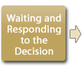 Waiting and responding to the decision
