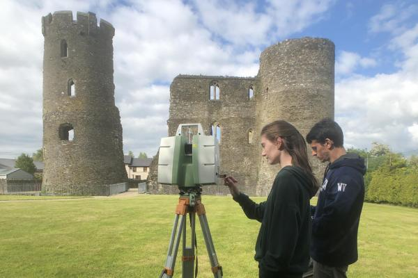 Laser Scanning Ferns Castle, Ireland