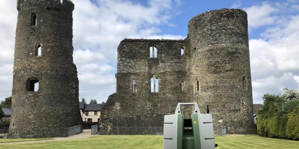 3D laser scanning Ferns Castle, Ireland