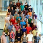 Mathematics workshop attendees posing for a group photo