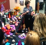 People view the Dia de los muertos altar created by the Department of Modern Languages