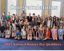 Group photo of the qualifiers for the 2015 National History Day contest