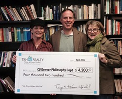 TKH Realty donation to the CU Denver Philosophy Department