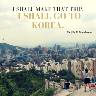 I Shall Make the Trip I shall Go to Korea Quote Picture