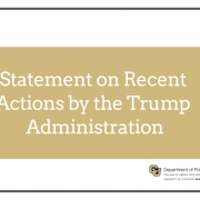 Statement on Recent Actions by the Trump Administration with Poli Sci Logo image